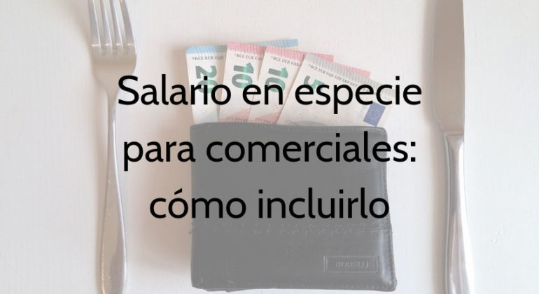 salario especie comercial cono by casula